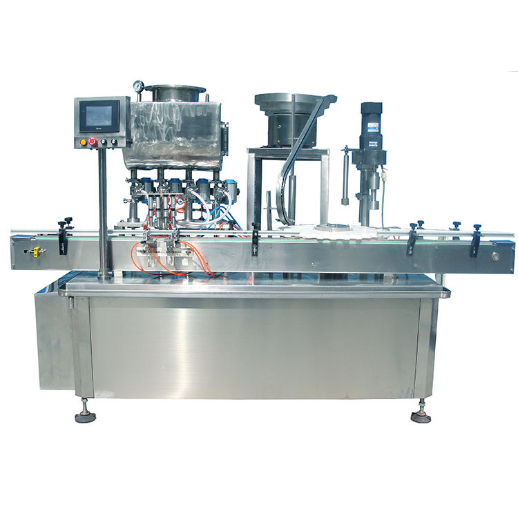 Automatic 10ml vial filling stoppering capping machine for bottle