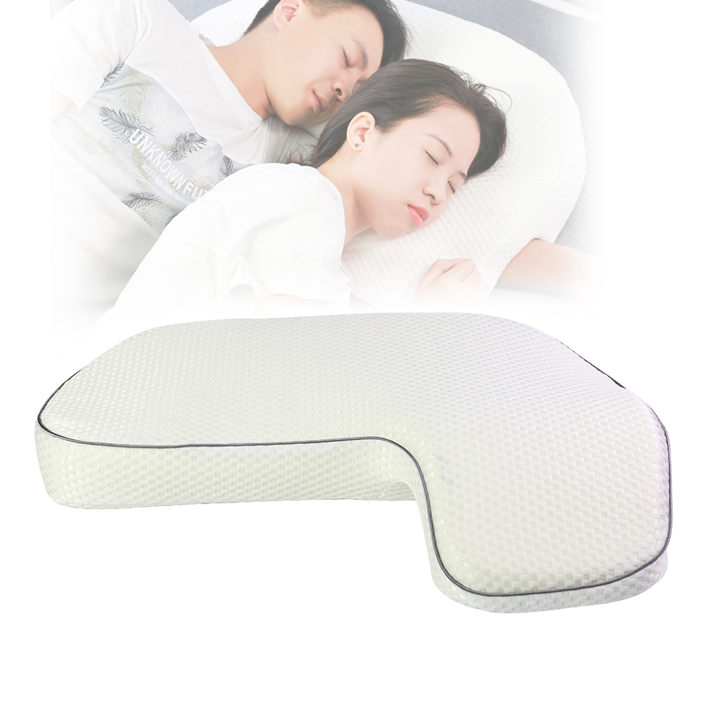 Wholesale Custom Romantic Relationship, Adult Arm Rest Smart Hugging Lumbar Wedge Neck Memory Foam Bed Sleeping Couples Pillow