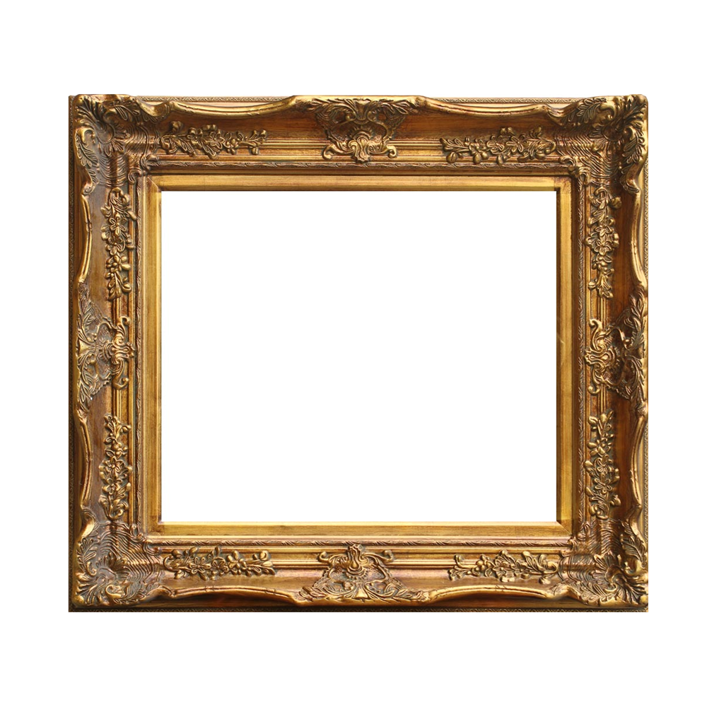 China Frame Supplier Gold Antique Ornament Wood Luxury Baroque Painting Frame