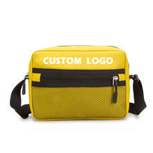 Fashion teenage waterproof yellow weekender crossbody bag colorful boys girls cross body messenger bag