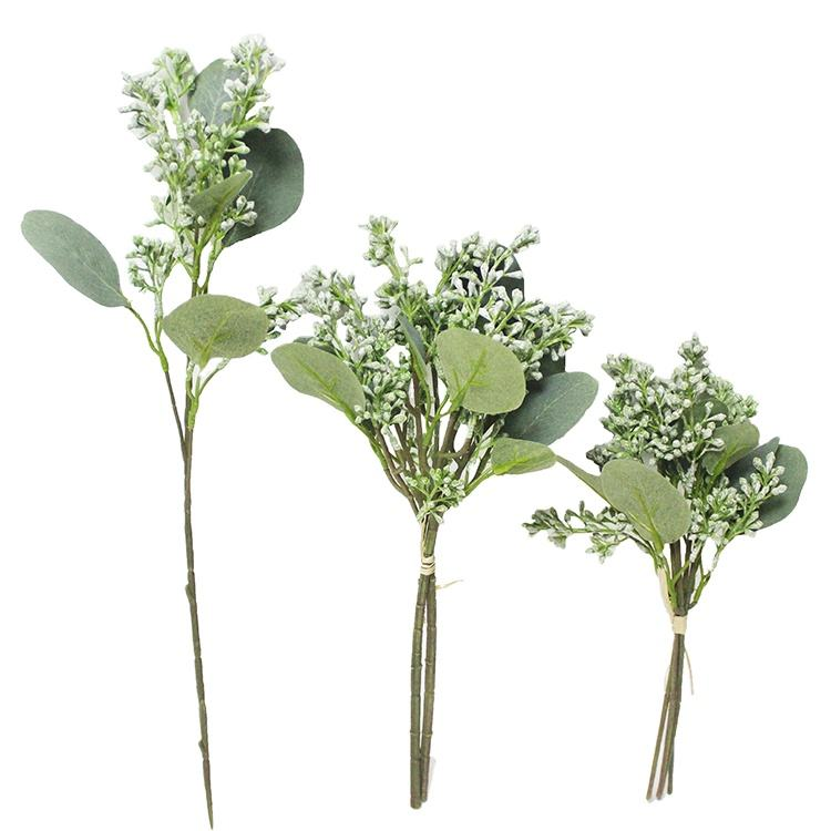 Manufacture wholesale customize decor wedding centerpiece seeded eucalyptus bunch decorative plant branches eucalyptus leaves