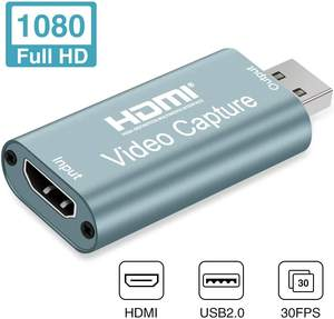 Capture Card - HDMI to USB 2.0 Game Video and Audio Grabber Card Full HD 1080P 30FPS  Capture Recording Box Compatible with Win