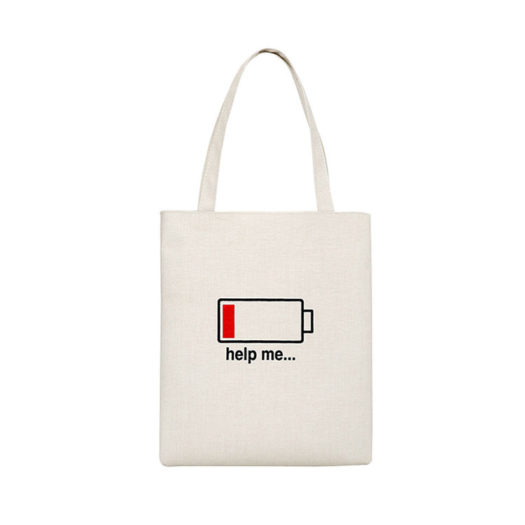 Promotional factory price eco friendly recycle reusable high quality fashion tote black cotton shopper bag