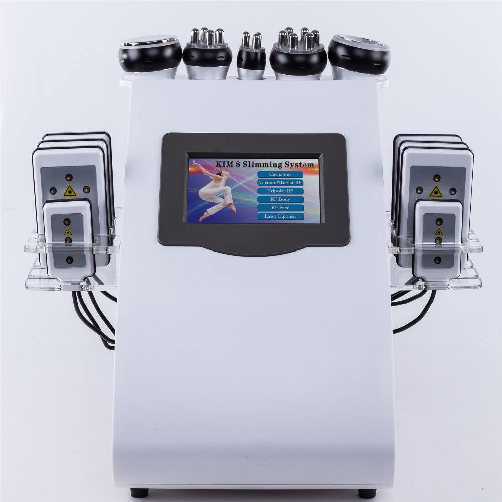 2019 Great quality 6 in 1 warhammer Vacuum Cavitation System Weight Loss Feature lipolaser cavitation rf beauty machine