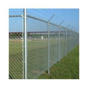 High Security PVC coated galvanized cheap chain link fence with razor wire on sale