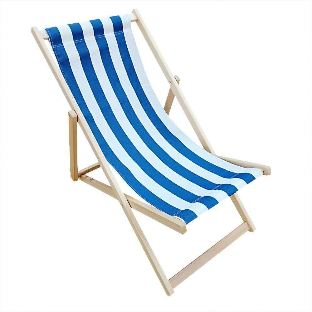 Folding Chair Deckchair Lounger Adjustable Beach Deck Hardwood Outdoor Bamboo Beach Chair