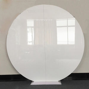 2m diameter White Acrylic Plexiglass Round Plinth Backdrop Display Wedding Supply For Stage Decoration