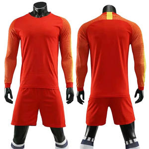 Wholesale Customized design blank long sleeve soccer jersey in bulk