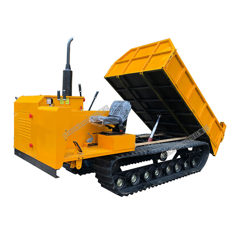 Electric mini track carrier dumper trucks hydraulic garden dumper transporter