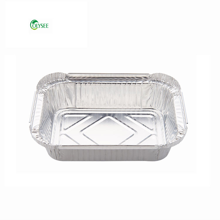 Disposable product aluminium lunch box storage container food 2141 with paper lids