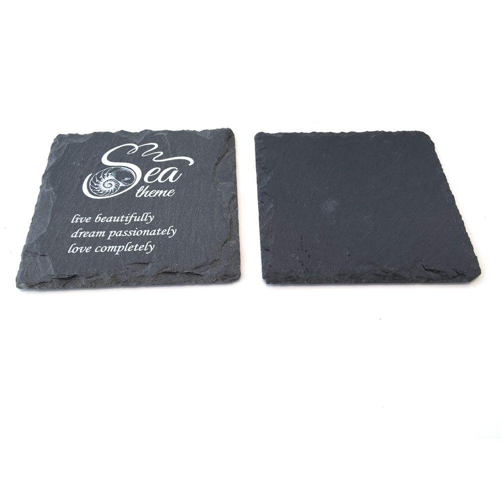 Piazza Natural slate coaster set slate coaster all'ingrosso