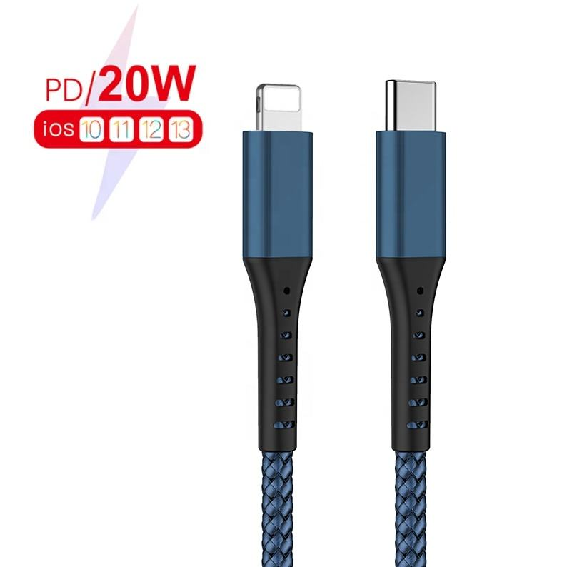 Fast Charger Usb-c-8pin Type-c Pd Cable For A pple 11 Max Pro Sync Charger Cord 18w Pd Charging Data for iPhone 12