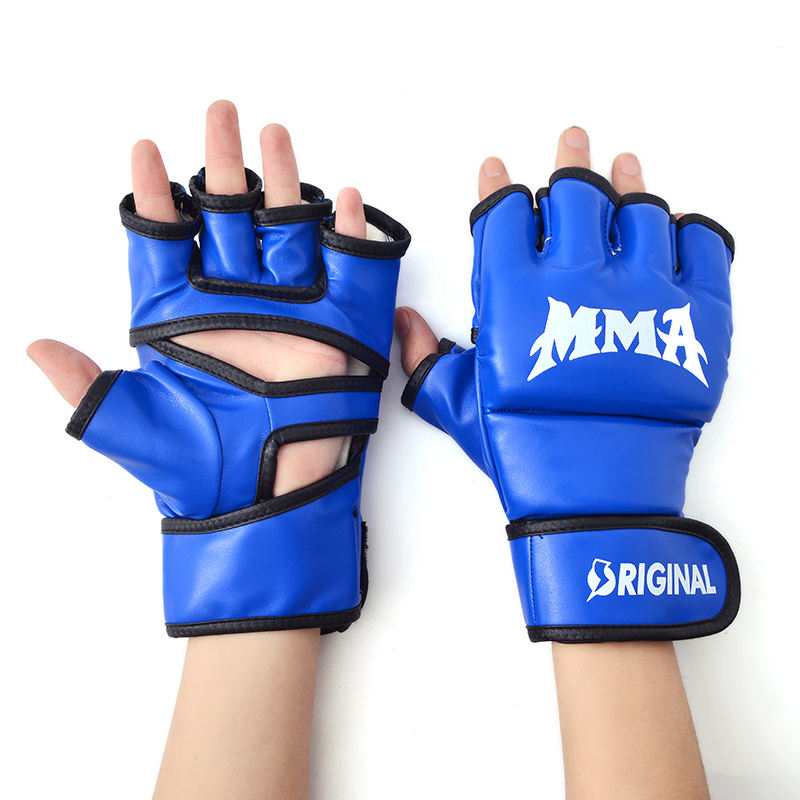 custom logo high quality pu leather ufc sparring boxing mma punching gloves