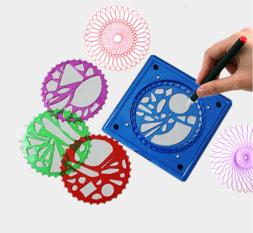large Gears Spirograph Ruler Set Stencil Tool Toy for Students