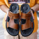 Slip-On [ Cheap Sandals ] Factory New Cheap Hand-made Men's Leather Sandals Wading Shoes Beach Shoes
