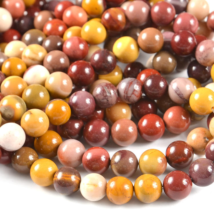 6mm 8mm 10mm Round Yolk Stone Strands Natural Gemstone Beads, Loose Precious Gemstone Wholesale
