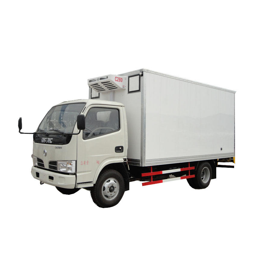 Dongfeng light 4x2 3 ton 4 ton new 10 cbm box van cold store freezer truck for sale