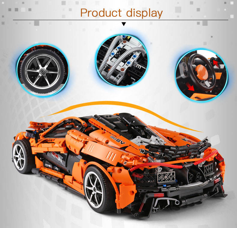 Legoing 20087 RC Technic Car toys Compatible With MOC-16915 McLaren P1 Motor Function Car building blocks for children