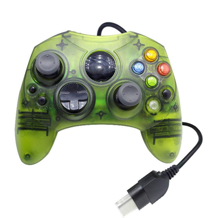 Vert couleur de transparence Gamepad <span class=keywords><strong>c</strong></span>âblé manette de jeu joypads avec moteur pour MANETTE XBOX filaire