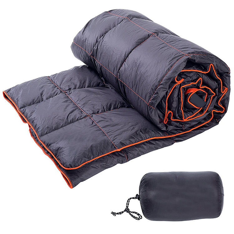 Hot Sale Outdoor Lightweight Packable Throw Blanket Compact Waterproof and Warm Camping Hiking Travel Down Blanket