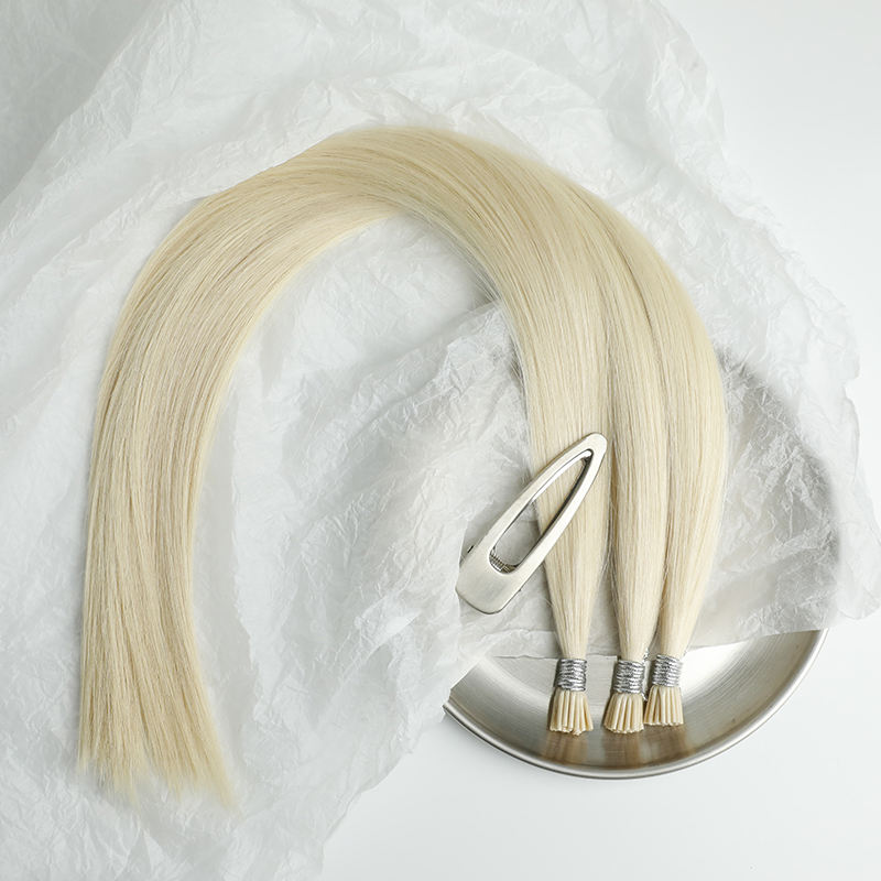 Lasting Long Time Italy Keratin Ponytail Hair I Tip Natural Remy Human Hair Extension For Women