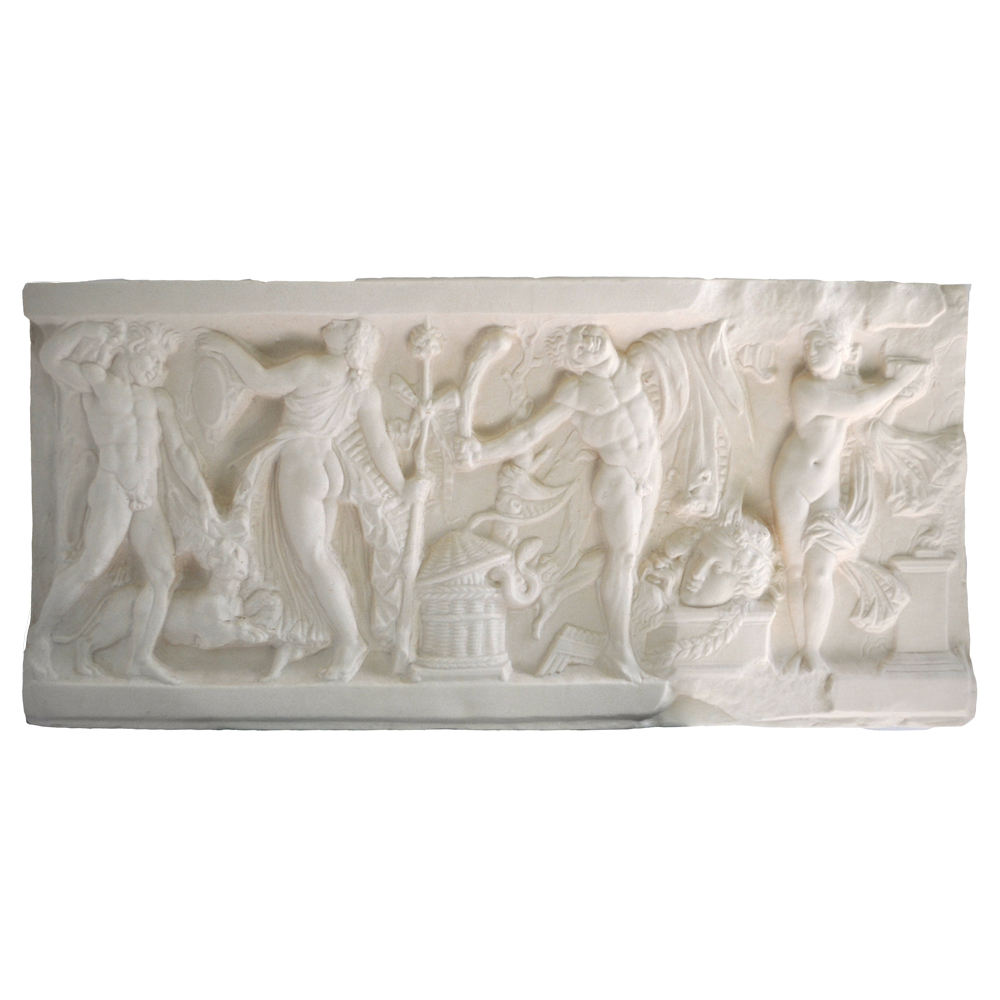 High Quality Rotational Molding Plastic Decorative Low-relief Roman Art BS5 Bacchic Scene Made in Italy