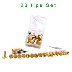 23pcs/set Wood Burning Pen Tip Stencil Soldering Iron Pyrography Working Carving Tool Kit