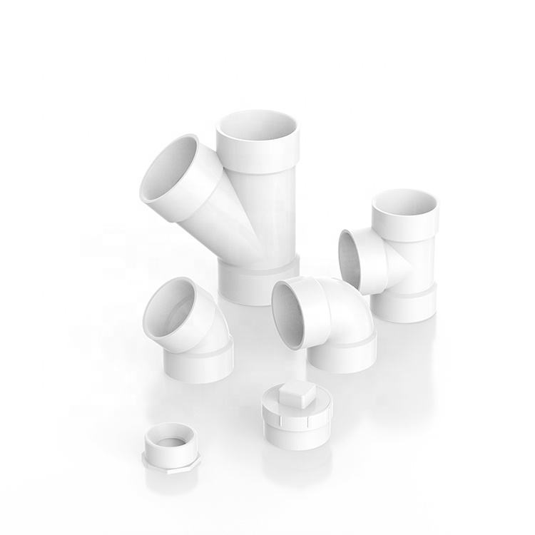 ASTM PVC UPVC DWV ASTM D2665 Plastic Water Drainage Fitting 45 Degree Lateral Tee Fitting