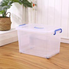 Multi-purpose Custom Made Clear Office Plastic Storage Box with Handle