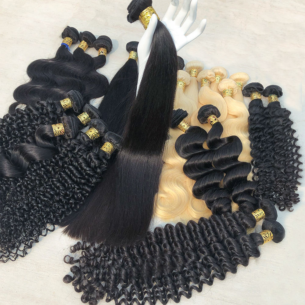 XBL 50%OFF Free Shipping 3 Bundle Deals,Raw Virgin Brazilian Hair Bundles,Factory Straight/Body/Loose/Deep/Curly hair Vendor