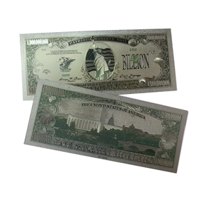 USA Statue of Liberty currency printing Waterproof one billion dollar bills collection silver foil banknote