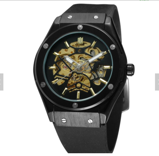 Popular Brand Forsinning 389 Men Vintage Luxury Silicone Belt Self-winding Full Automatic Mechanical Skeleton Wrist Watches