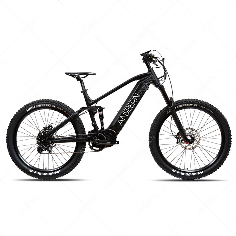 Ansbern Electric Bike Frame Powerful E Bike 1000W Bafang Ultra Mid Motor Drive Mountain Electric Bike 2020 BOOST