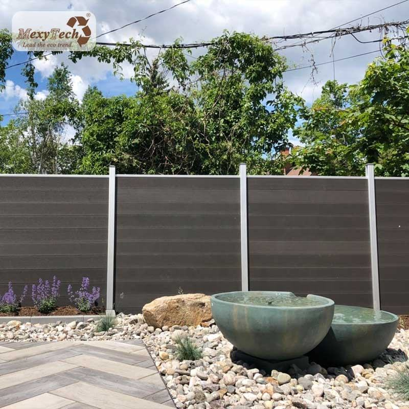 cheap fence panels,cheap garden railing fence material / terrace wpc fence panel