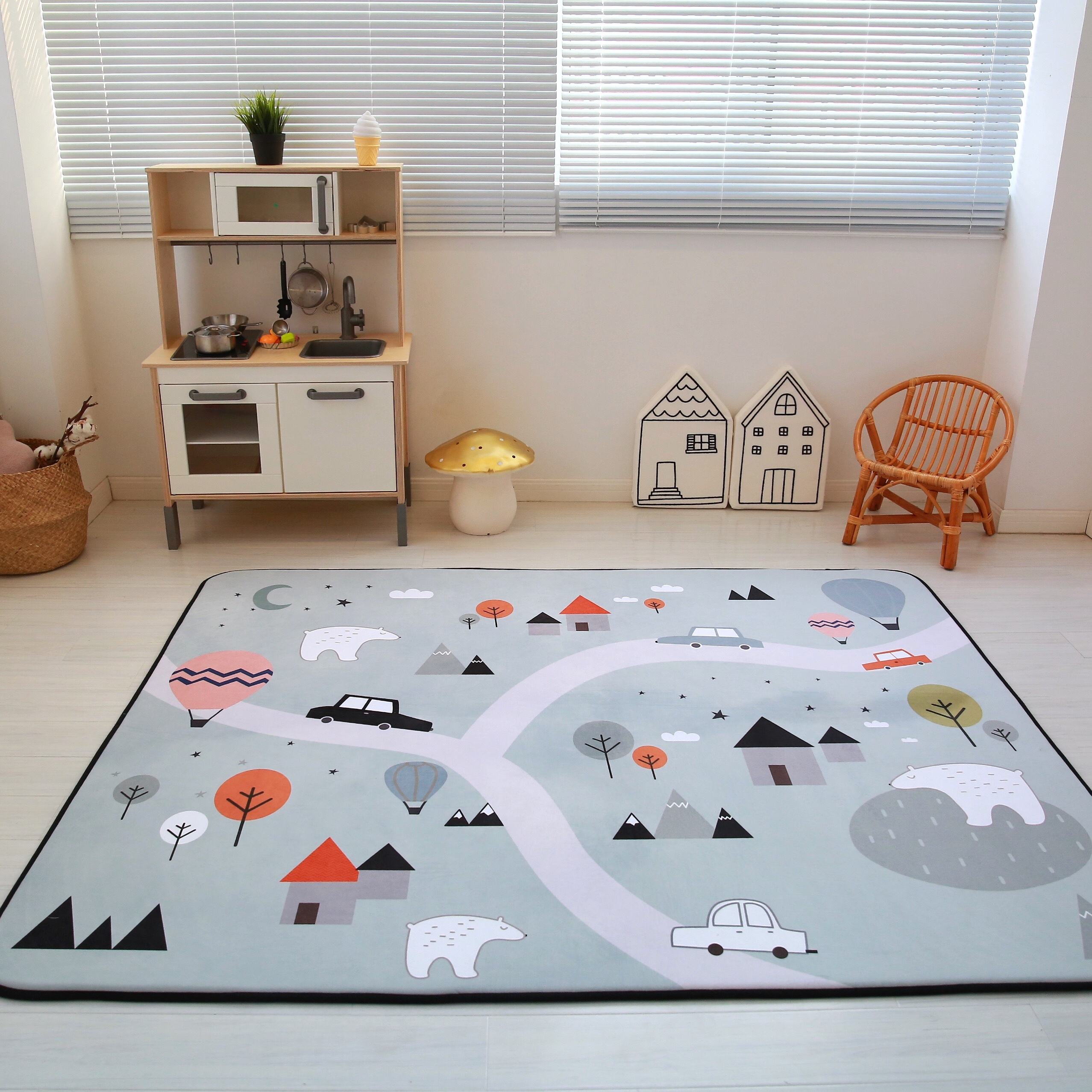 Eco-friendly Kids Play Mat with Realistic Printing for Education and Sport