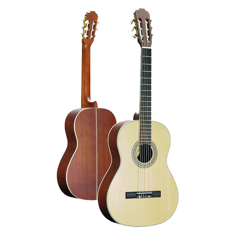High quality white mini Spruce travel custom acoustic guitar