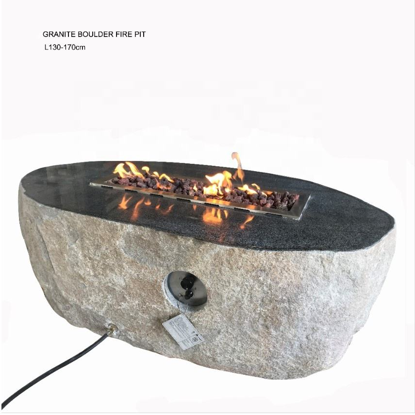 outdoor NATURE BOULDER fire pits