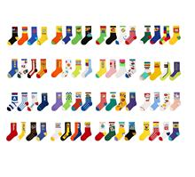 68 colors 4paris pack sale 24h quick order funny logo knit teen children sox kid happy sock