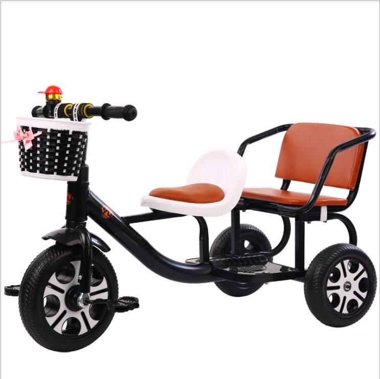 New Baby Tricycle Mother and Baby Carrier Children Two Seat Kids Tricycle kids bike for sale