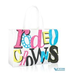 Eco Promotional Customized Printed Tote Laminated Recyclable Non Woven Bag For Shopping