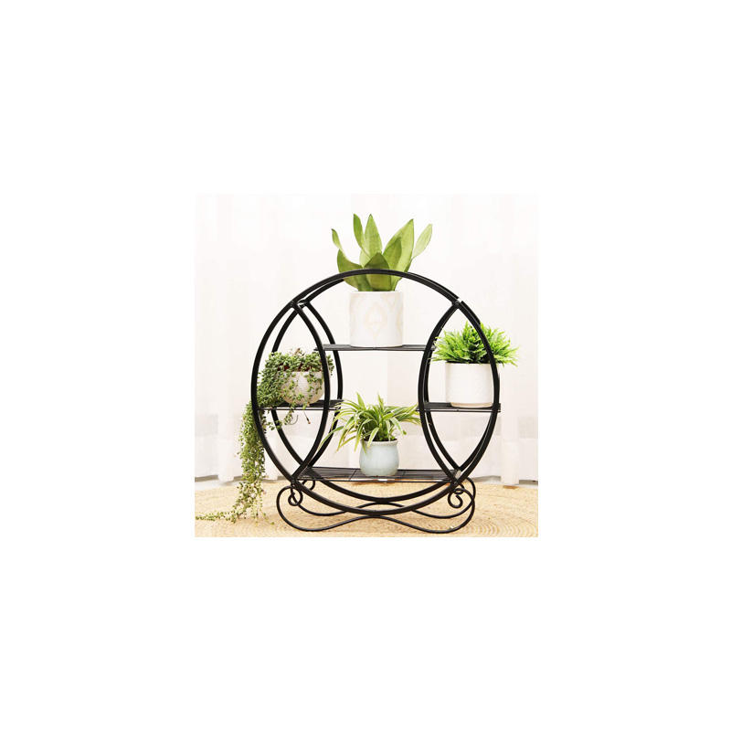 Decorative 3-Tier Metal Plant Stand Indoor Flower Shelves Wall Shelves For Garden Living Room