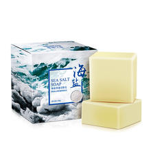 Sea Salt Soap Cleaner Removal Pimple Pores Acne Treatment Goat Milk Moisturizing Face Wash Soap Skin Care Handmade Soap