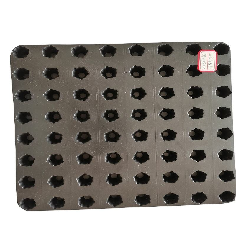Good quality HDPE plastic black Drain Mat dimple drainage board for structure hydrophobic protection in supply low price
