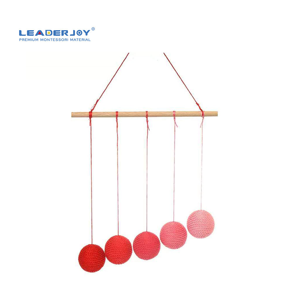 LEADERJOY Early Education Infant Toys Montessori Supplies Wholesale Newborn Montessori Gobbi Mobile Baby Toys Educational