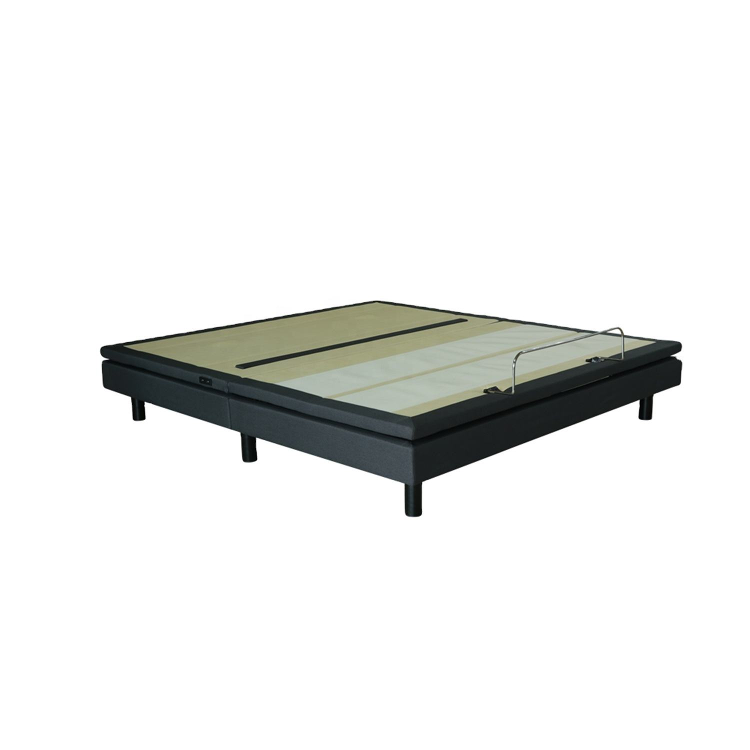 9541 Modern Designs Metal Massage King Size Double Cot Bed with Soft Lights Under the Bed