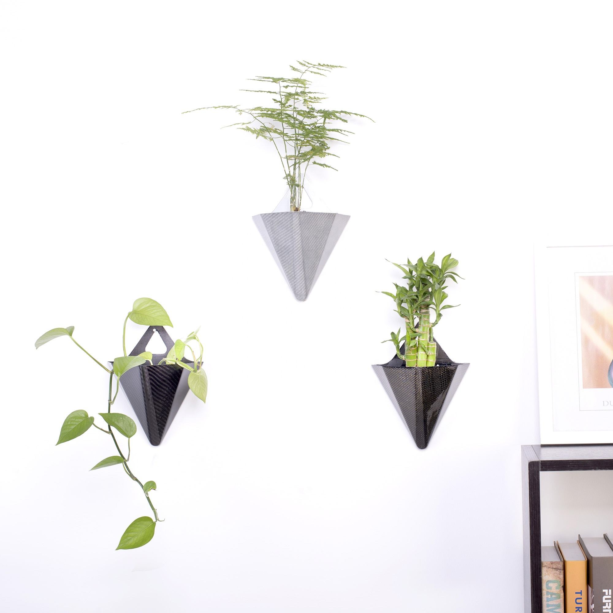 new fashion design high quality fibre glass carbon fiber flower plant pots home garden