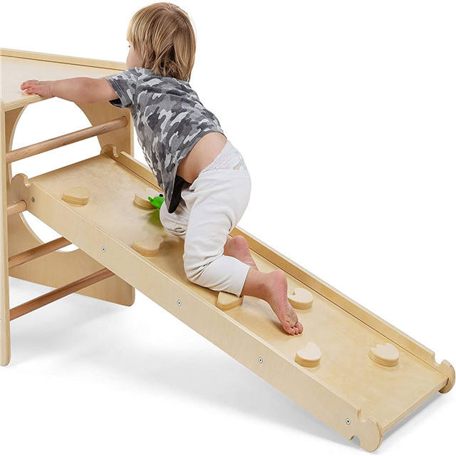 Kids Pikler Triangle Climbing Frame For Toddler Play Wooden Climbing Ladder For Children Fitness Rack Iindoor toys