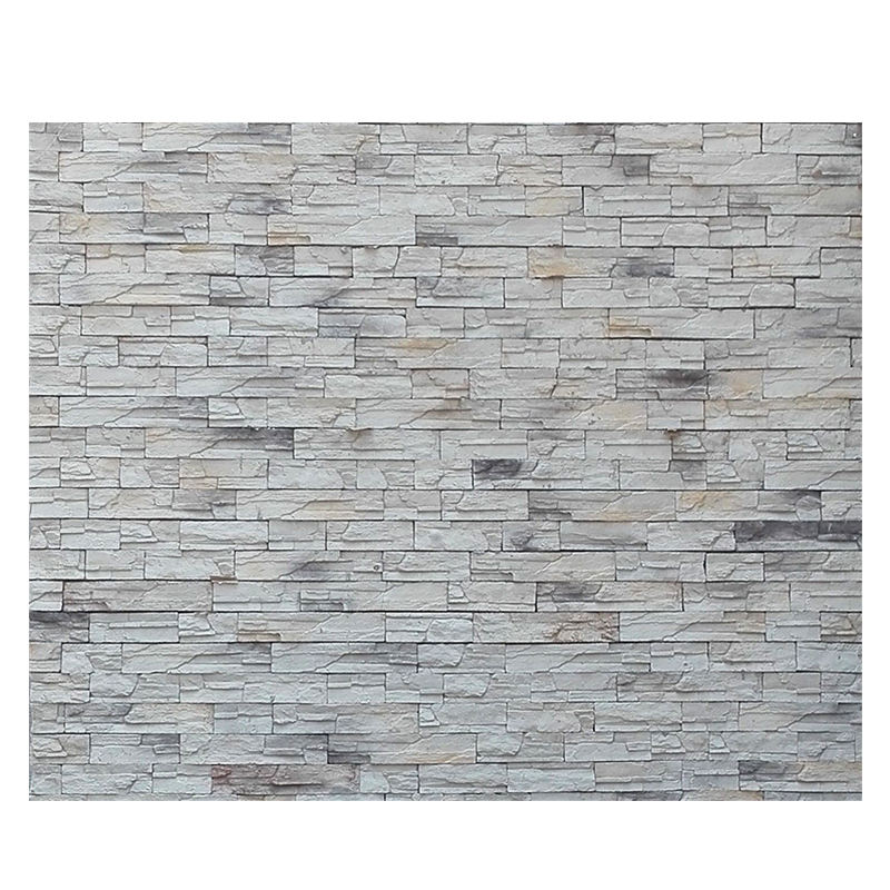 concise style faux stone lightweight arctic white stone wall panel