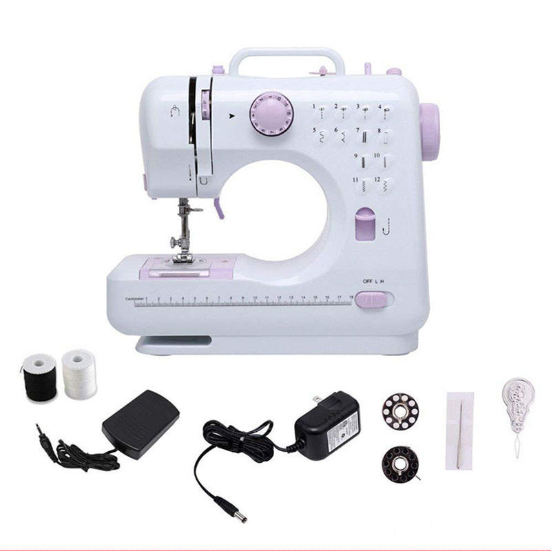 2021 12 stitches Mini household cloth Sewing Machine with button hole sewing guangzhou factory price