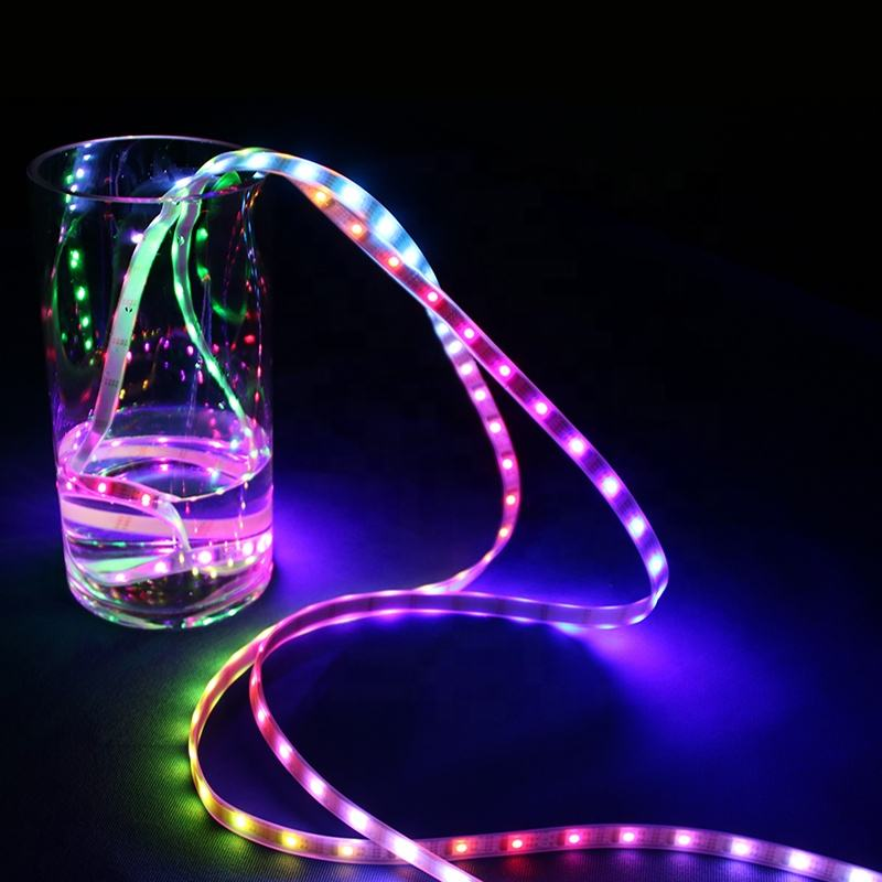 Magic RGB Color DC12V LED Strip Light DMX512 LED Strip Programmable Professional Engineering Design Bar Park Garden Decoration